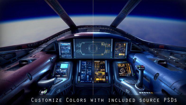 Sci Fi Light Fighter Cockpit Sci Fi Spaceships Creative Icon