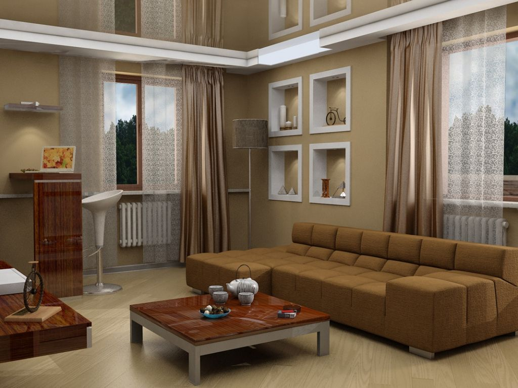 nice brown color palette for living room pertaining to The house