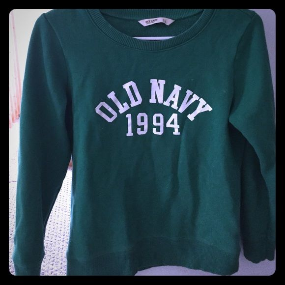 Barely worn old navy sweatshirt Perfect for st. Paddys day :) super comfy and warm. Only worn a handful of times. Old Navy Jackets & Coats