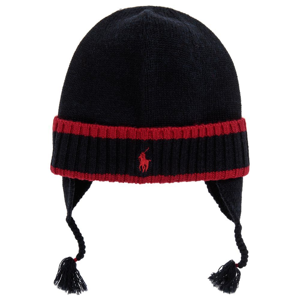 788cda86bb5 Boys Blue Wool Knit Hat for Boy by Polo Ralph Lauren. Discover the latest  designer Hats for kids online