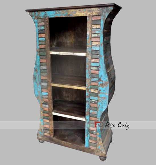 Captivating Jodhpur Reclaimed Teak Wood Bookcase Made In India By Riseonly.com # Bookshelf #reclaimed
