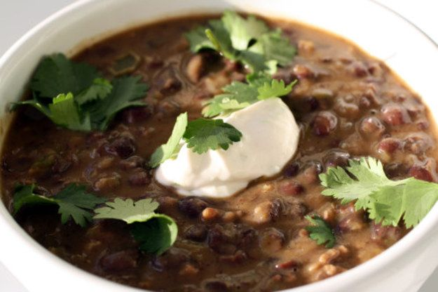 The Secret Ingredient (Liquid Smoke): Black Bean Soup with Smoked Sour Cream