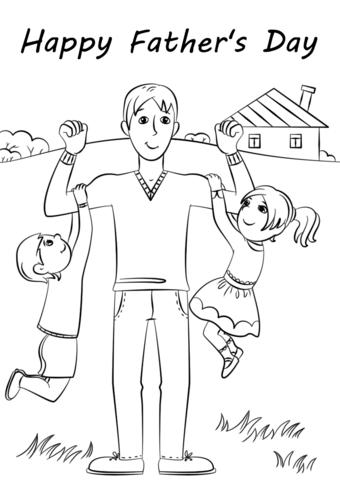Dibujos Para El Dia Del Padre Para Colorear E Imprimir Dia Del