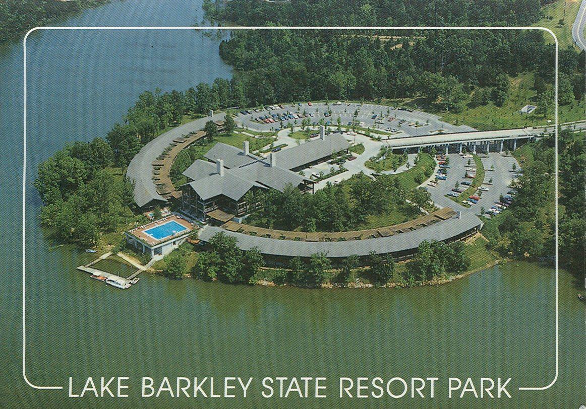 Aerial view of lodge and pool Lake Barkley State Resort Park Cadiz