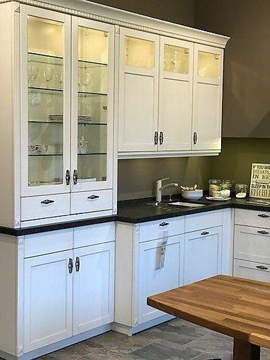BAX: Cornwall Strichlack Antik Camé Große, Gemütliche Cornwall  Landhausküche, Echtholz/Lackiert Mit