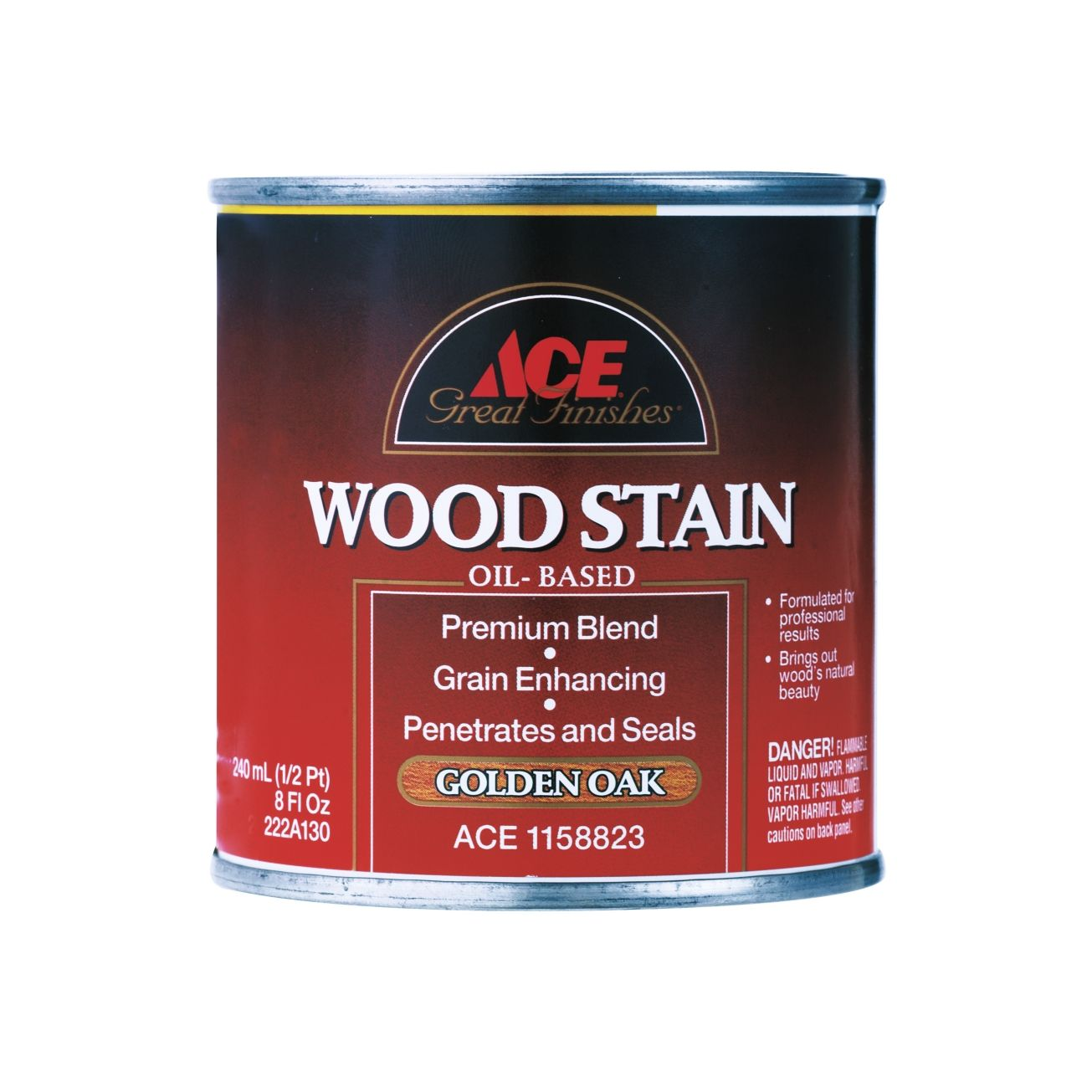 Ace Great Finishes Wood Stain In Golden Oak 1 X2f 2 Pint Wood