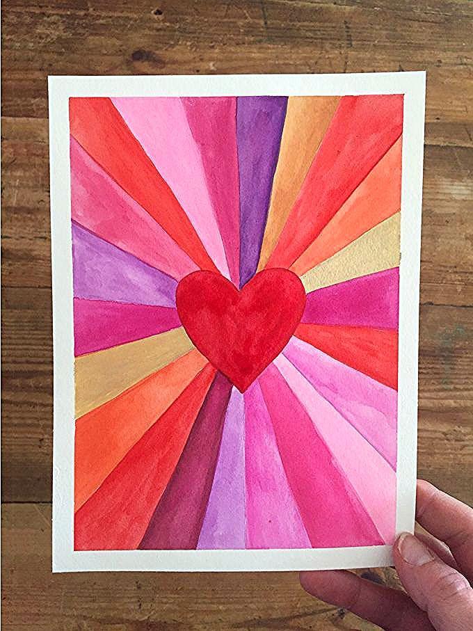 Sunburst Paintings: Machen Sie Kunst mit einem Lineal - #Art #einem #Kunst #Line...