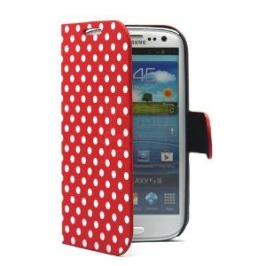 Amazon.com: PhoneAdventures Flip Polka Dots Leather Case with Stand for AT, Verizon, Sprint,T-mobile Samsung Galaxy S3 - Red: Cell Phones & Accessories
