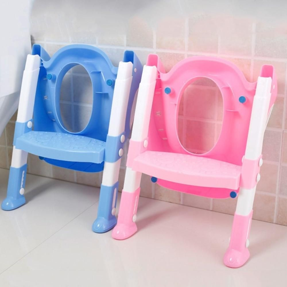 9f9d437ab Foldable Children Potty Seat With Ladder Cover PP Toilet Adjustable ...