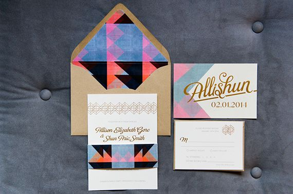 Modern Geometric Austin Texas Wedding Allison Shun 100 Layer