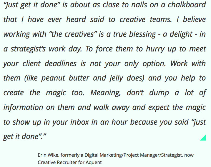Advice for creative people...