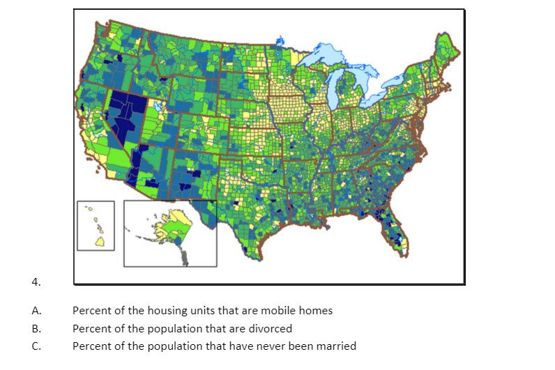 Choropleth map quiz 2 mobile homes divorced people or never choropleth map quiz 2 mobile homes divorced people or never married people gumiabroncs Image collections