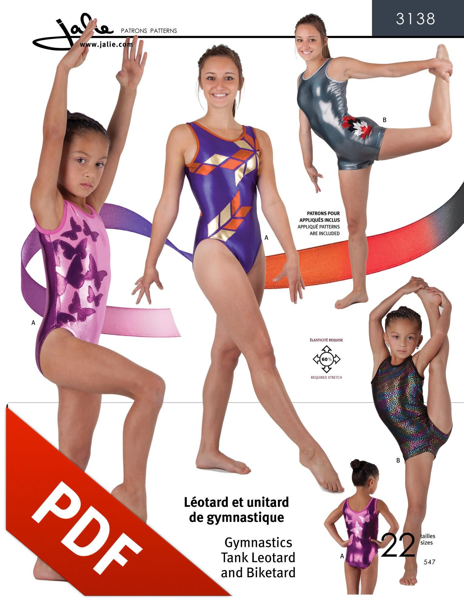 7773e561f1ca 3138 - Jalie Tank Leotard Pattern in PDF format you can print from ...