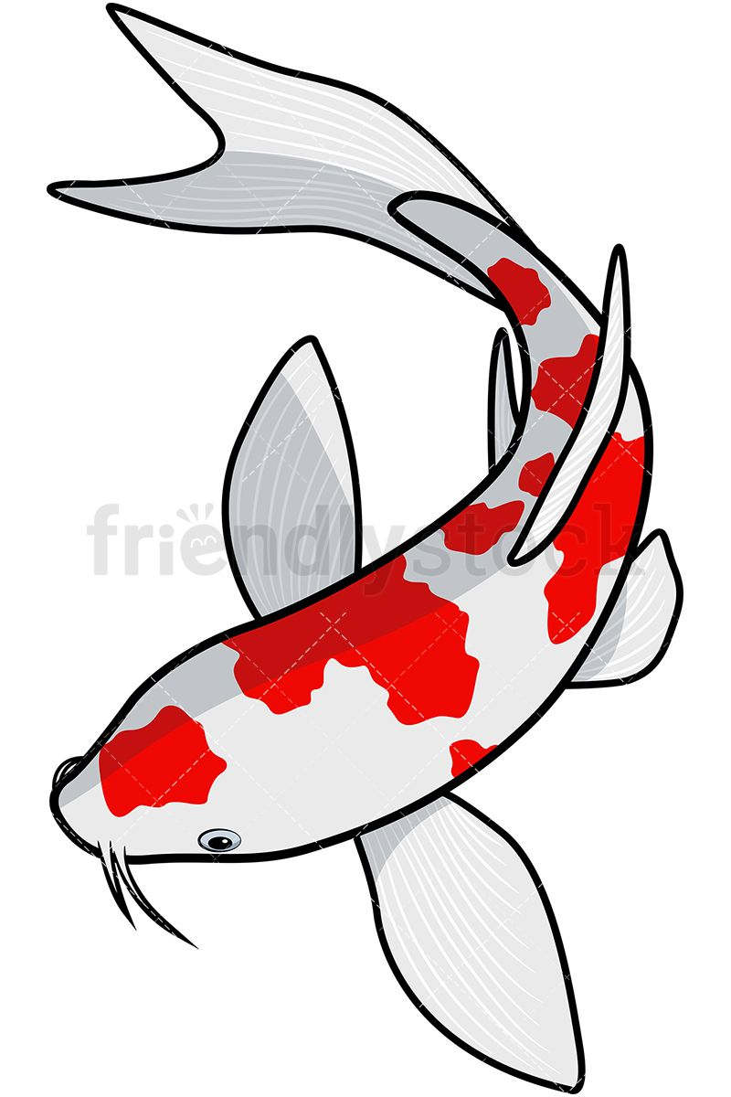 Koi Fish Cartoon Vector Clipart | Koi, Sea fish and Fish