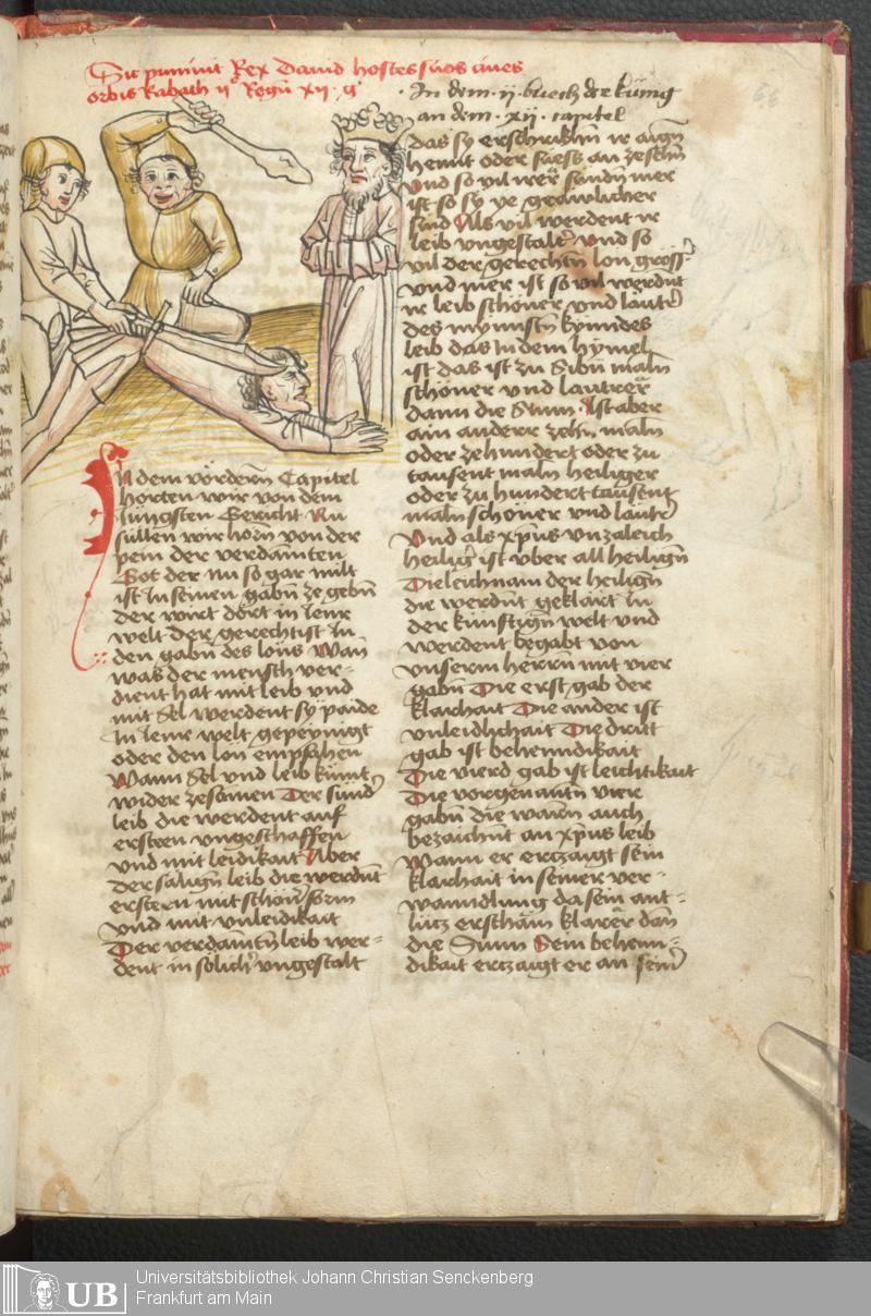 135 [66r] - Ms. germ. qu. 100 - Speculum humanae salvationis deutsch - Page - Mittelalterliche Handschriften - Digitale Sammlungen Bayern, [15. Jh. 3. Viertel]