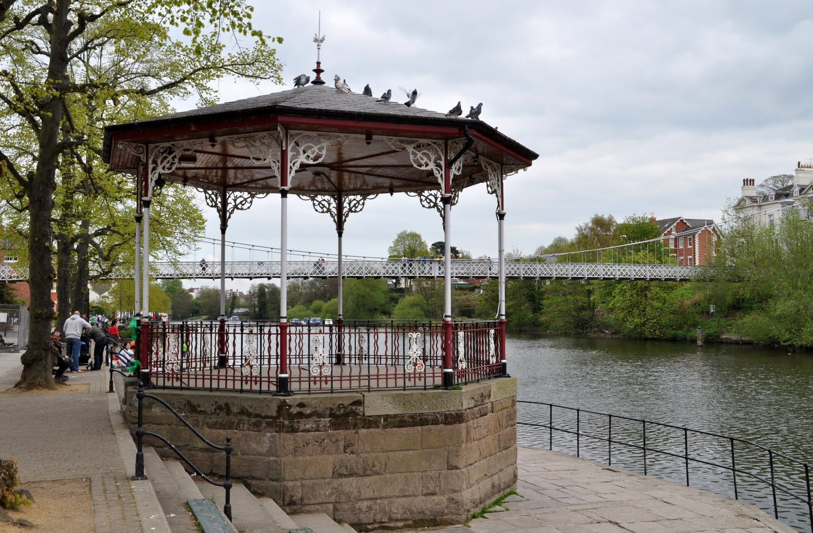 Victorian Band Stand by the River Dee