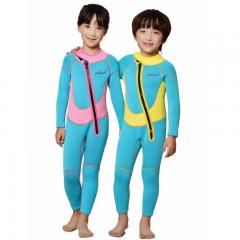 Kids Long Sleeve Diving Wetsuit Swimwear Boy Girl Neoprene Surfing Suit Swimsuit