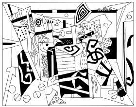 Lebensfreude Laden Fine Art Leinwand Malvorlage auf Keilrahmen - Abstract Art 480 | Lebensfreude Laden