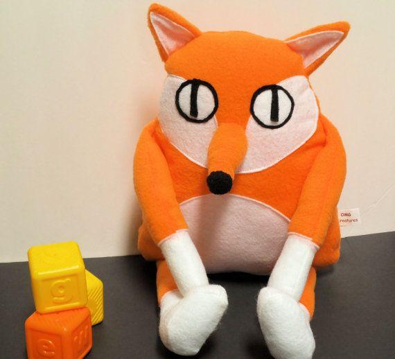 Large Fox Plush Toy Monster Fox Stuffed Fox Toy Plush Fox Toy Fox