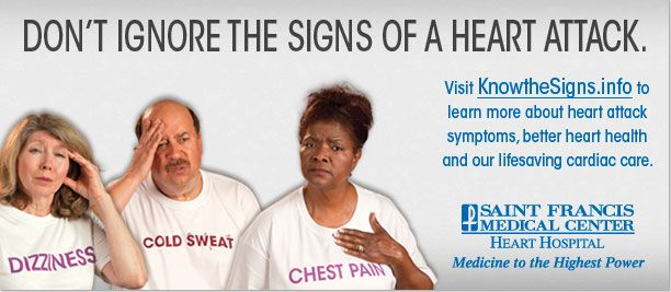 Don't ignore the signs of a heart attack!