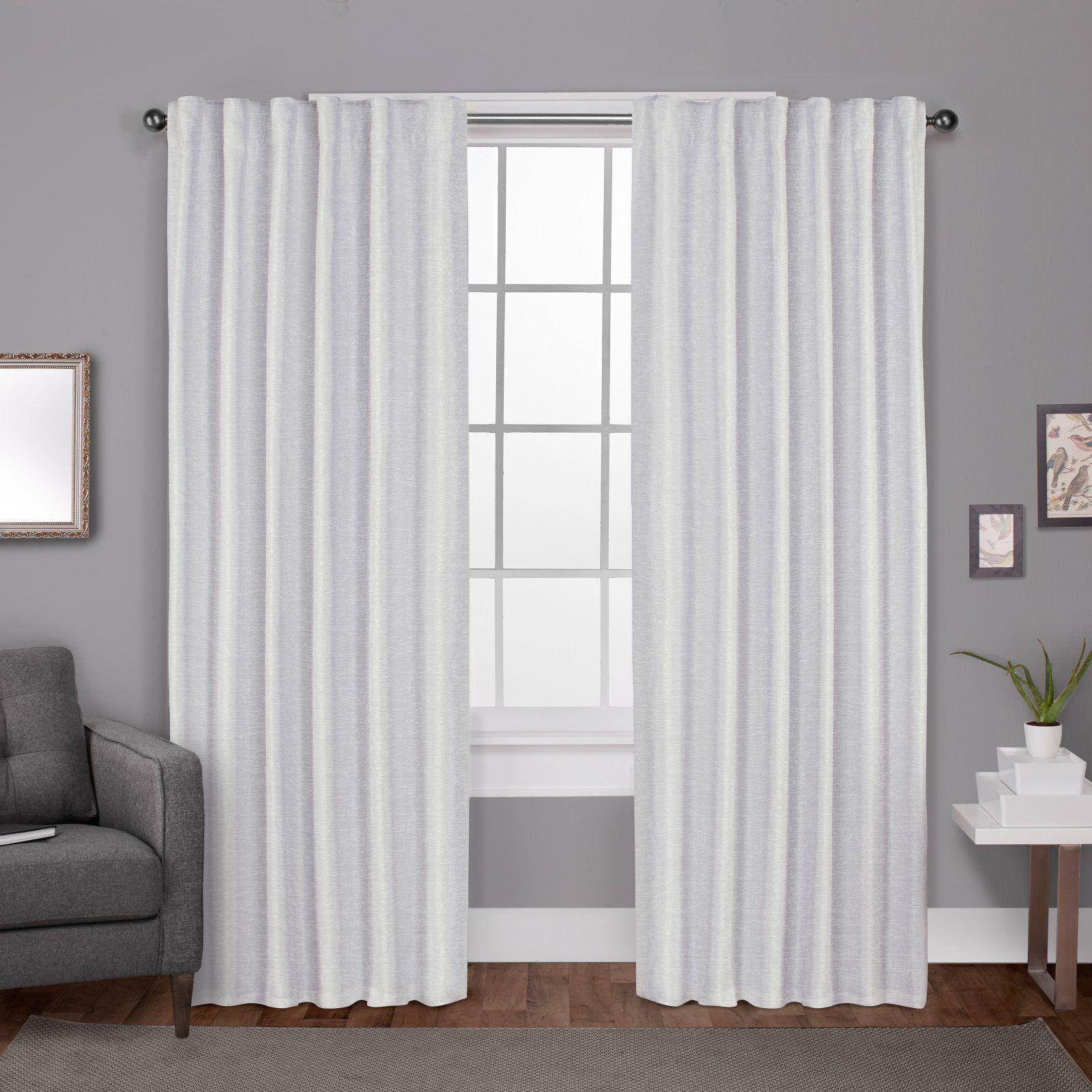 Exclusive Home Zeus Textured Jacquard Blackout Hidden Tab Curtain