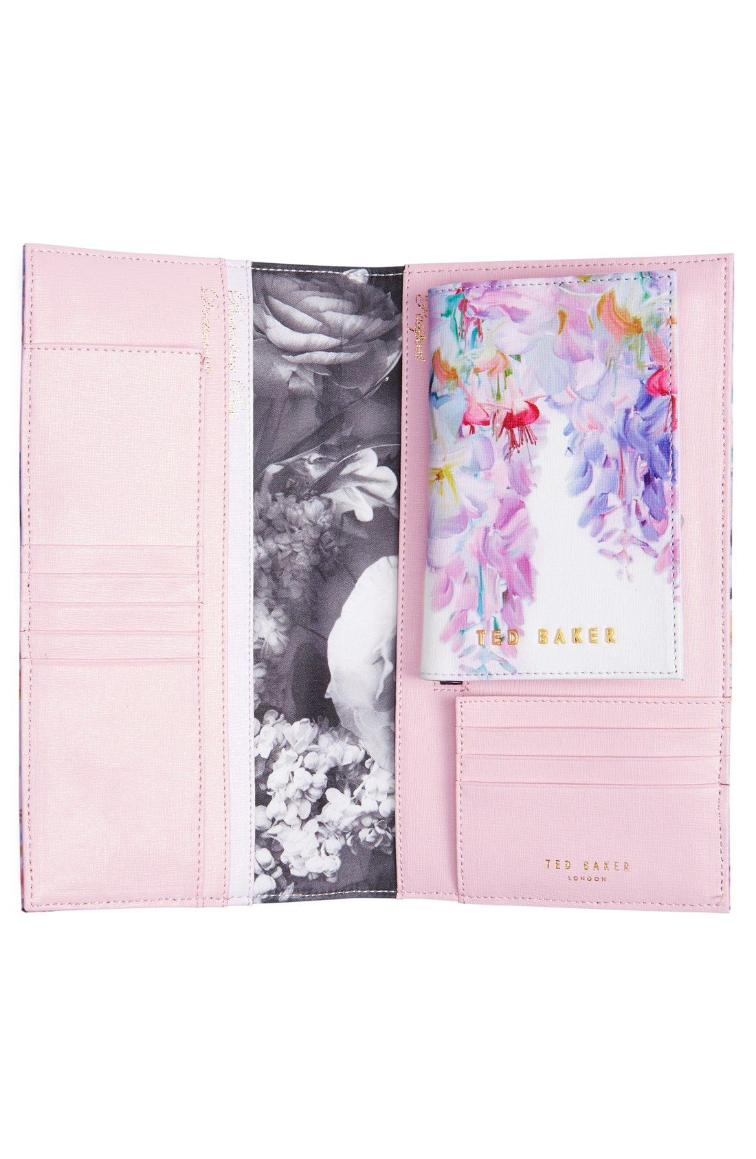aa820d1e7f3b84 Ted Baker London  Hanging Garden  Leather Travel Wallet   Passport Cover Set