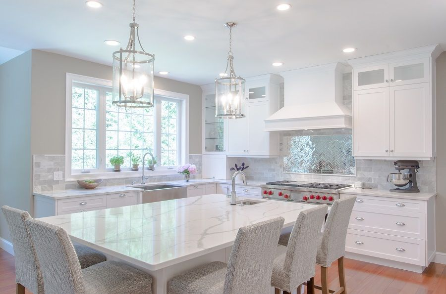 kitchen remodel white cabinetry with white marble looking quartz countertops larg kitchen on kitchen remodel not white id=82650