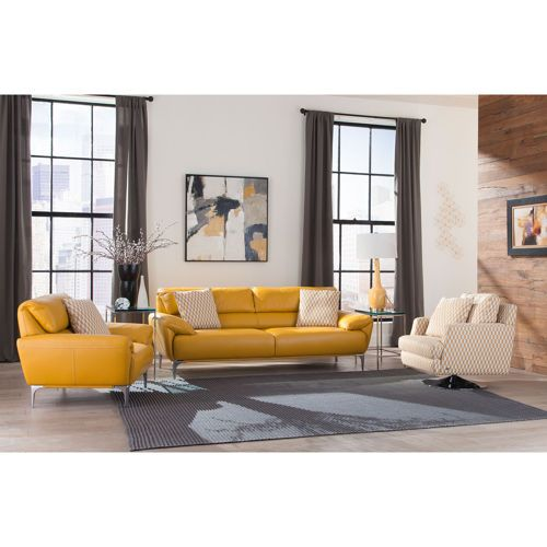 Excellent Carlo 3 Piece Top Grain Leather Fabric Living Room Set Beutiful Home Inspiration Xortanetmahrainfo