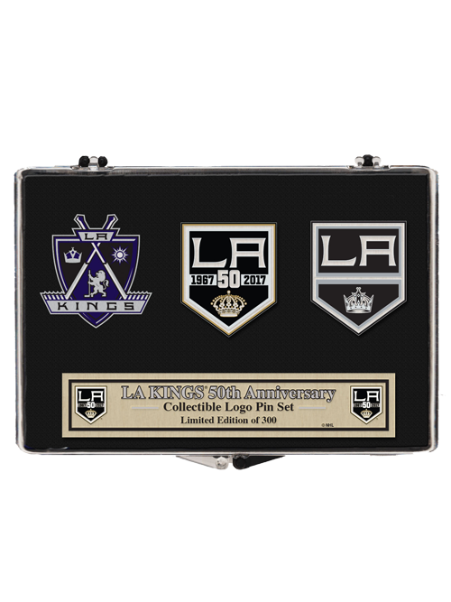 reputable site 464e1 5157c Los Angeles Kings 50th Anniversary Crest 3 Pin Set | Stuff I ...
