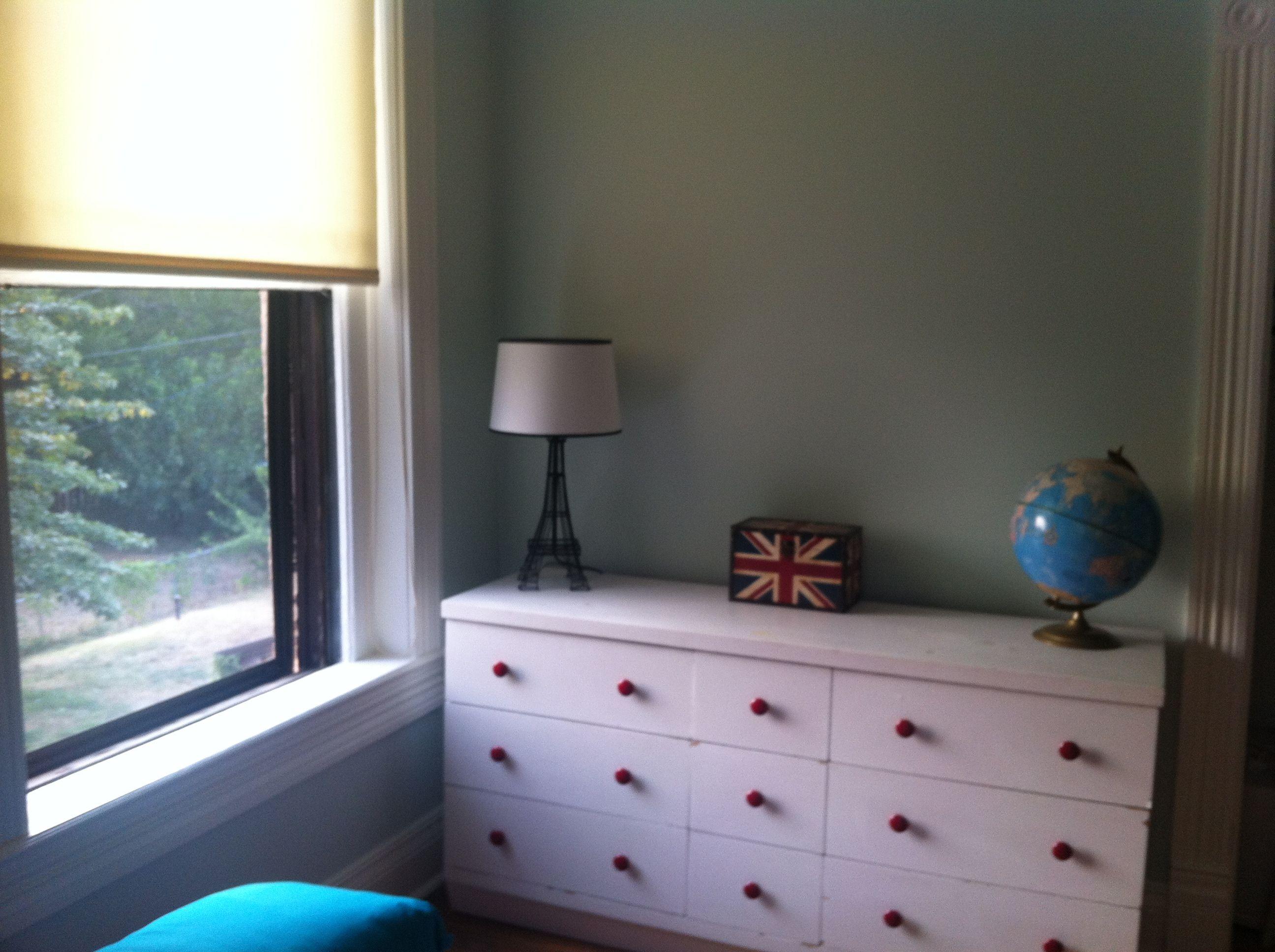 Done! Guestroom  walls: Ellen Kennon Seafoam (flat)  trim: Ellen Kennon Snow (semigloss)