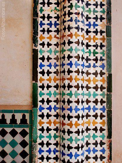 Azulejos del patio del cuarto dorado en la alhambra Azulejos patio