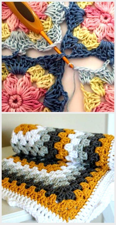 Crochet Granny Square Blanket Joining Color Combos 59+ Ideas  Crochet Granny Square Blanket Joining Color Combos 59+ Ideas,  #Blanket #Color #Combos #Crochet #Gr #GrannySquareCrochet