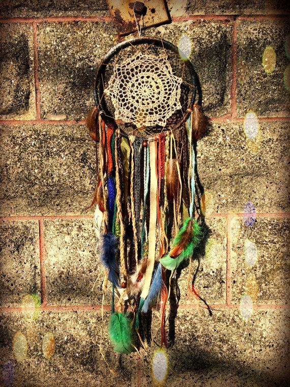 8 Earthy Natural Tone Dreamcatcher by ModernDaydream on Etsy