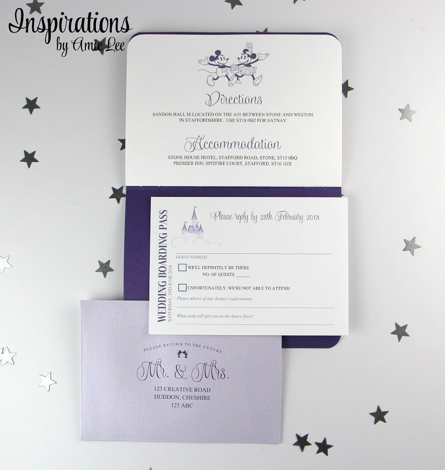 Disney themed wedding invitation created by Inspirations by Amie Lee ...