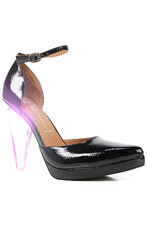Jeffrey Campbell  The Sterling Shoe in Black Patent and Lucite with LED Light