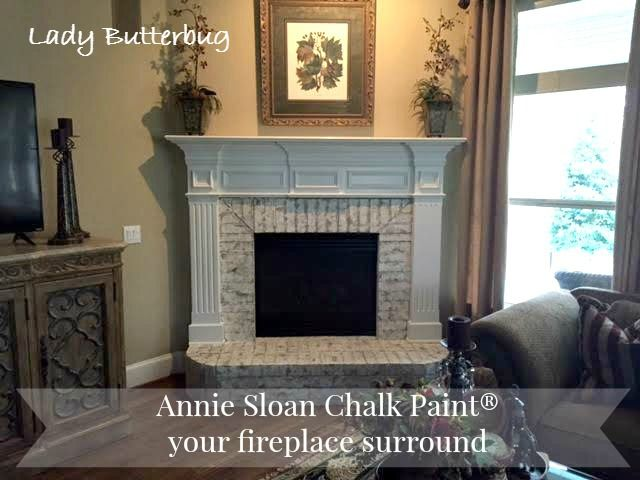 Annie Sloan Chalk Paint® Painted Fireplace Brick Surround ~