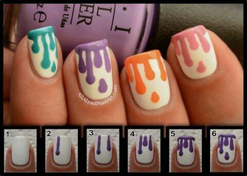 stepstep  simple nails easy nail art nail art diy
