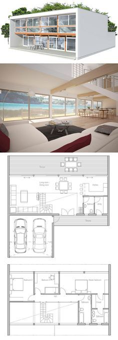 plan de maison Life Pinterest Tiny houses and House - plan de maison design