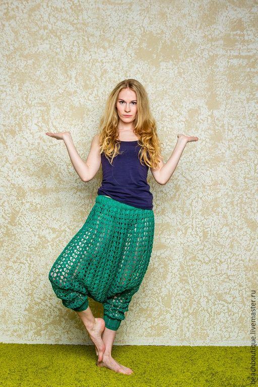a65f00af28 Crochet Harem pants … | Crochet | Croch…