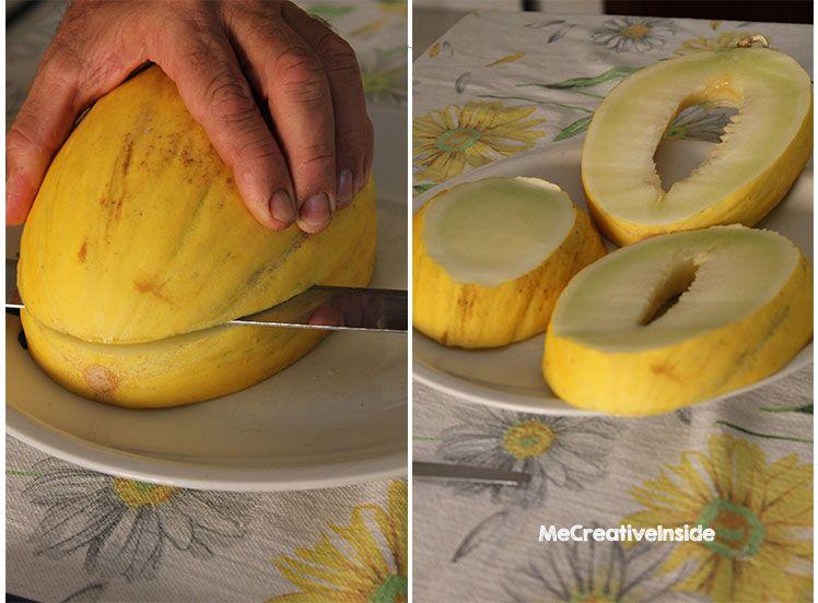 carving fruit fai da te  giochi di frutta tutorial diy barca di melone giallo ME creativeinside