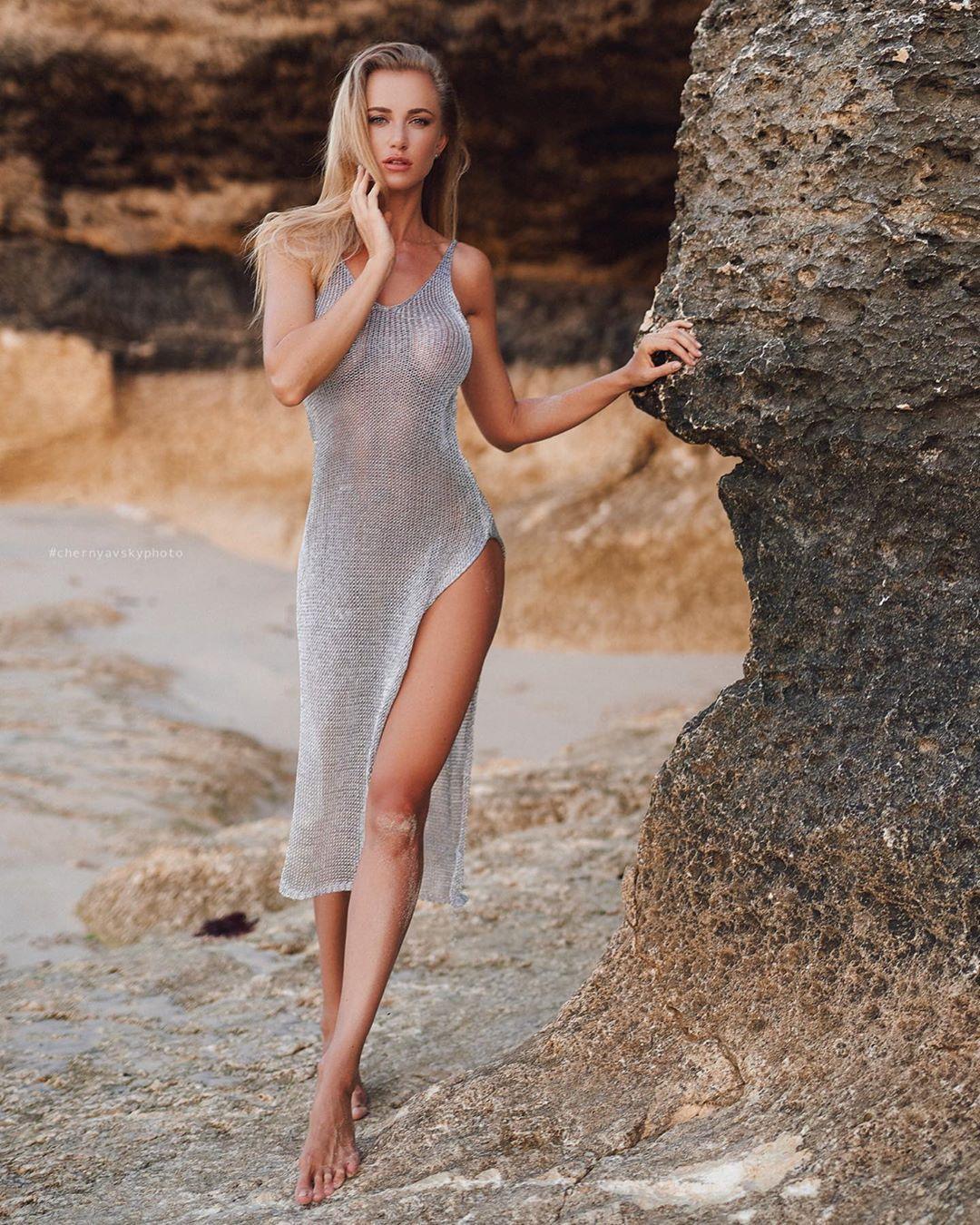 Beine Blondine Strümpfe Lange Stilvoll für