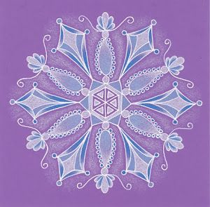 sneeuwkristal mandala sneeuw tekentips