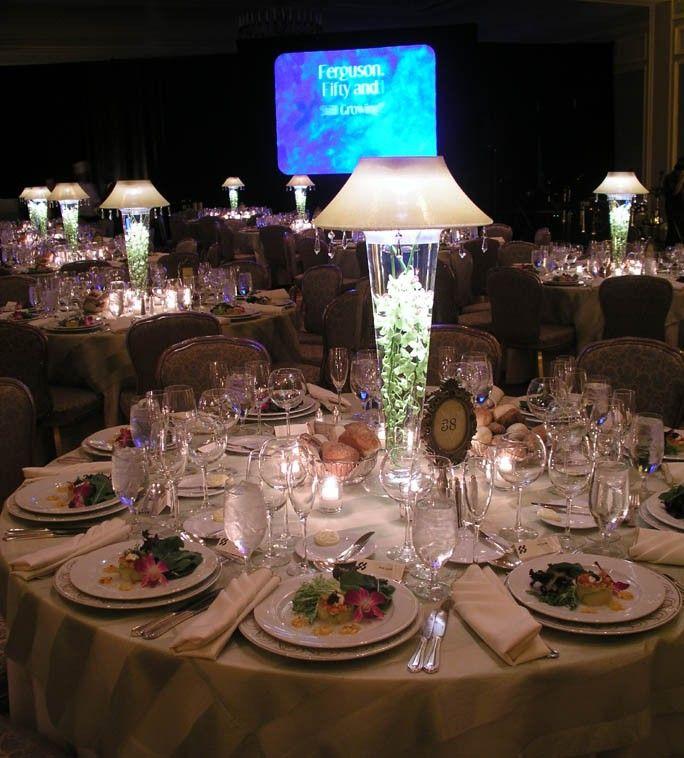 Lamp centerpiece wedding pinterest