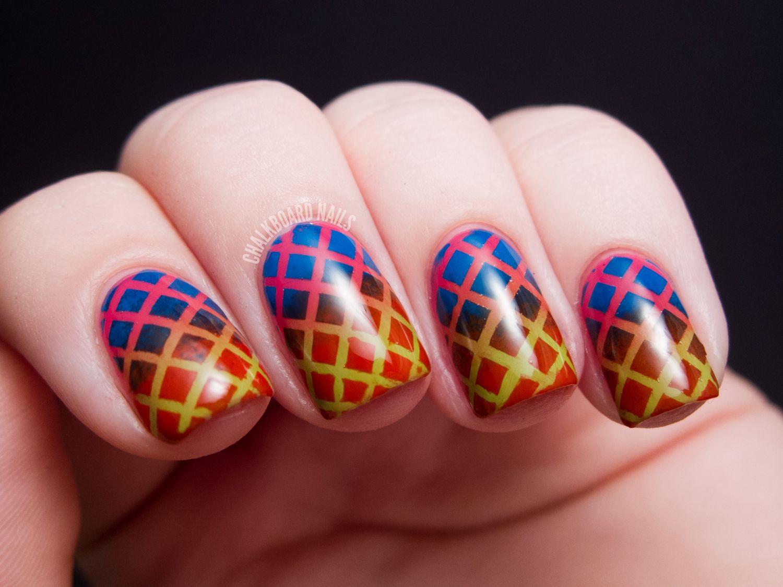 Cirque Du Soleil Makeup   ... Nails: Double Gradient Mesh - China Glaze Cirque du Soleil Nail Art