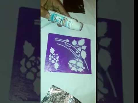 طريقة الورق الذهبي على الثوب 2 Youtube Fabric Drawing Sewing Fabric