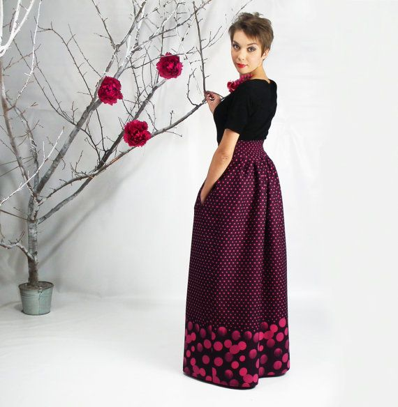 soft and light woolen fabric -cute dotty print -maxi length and ...