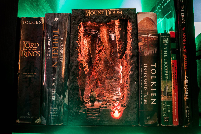 Mount Doom Lord Of The Rings Book Shelf Insert I Made Book Nooks Books Bookshelf Art