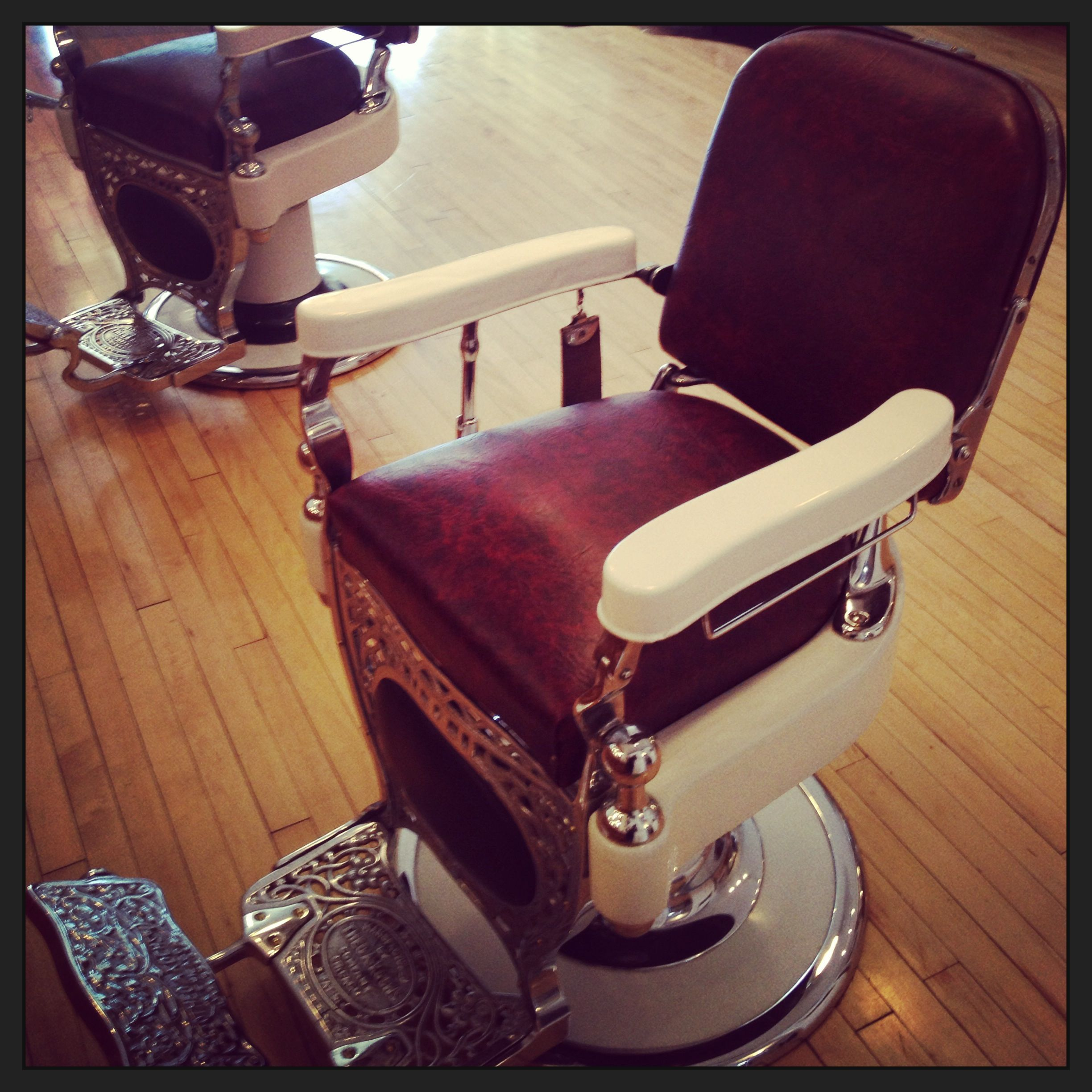 1920s barber chairs at stag milwaukee