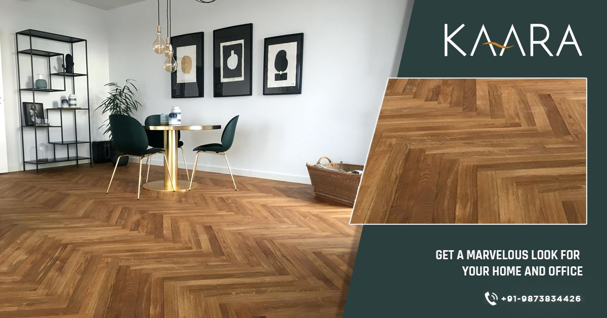 Feel the touch of wood every time you step in with KAARA's herringbone wooden flooring. To buy, call us at +91-9873834426 OR mail your details at contact@kaaradecor.com #HerringboneWoodenFlooring #WoodenFlooring #Flooring #SolidWood #kaara #EngineeredWood #ChevronWood #LaminateWood #Herringbone #Kaaradecor