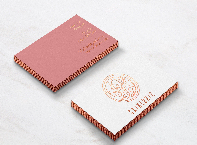 Luxury Orange Gold Business Card Design Printing Duplex Etsy Gold Business Card Gold Edge Business Card Rose Gold Business Card